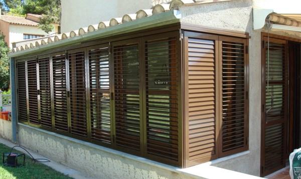 fachada persianas mallorquinas aluminio